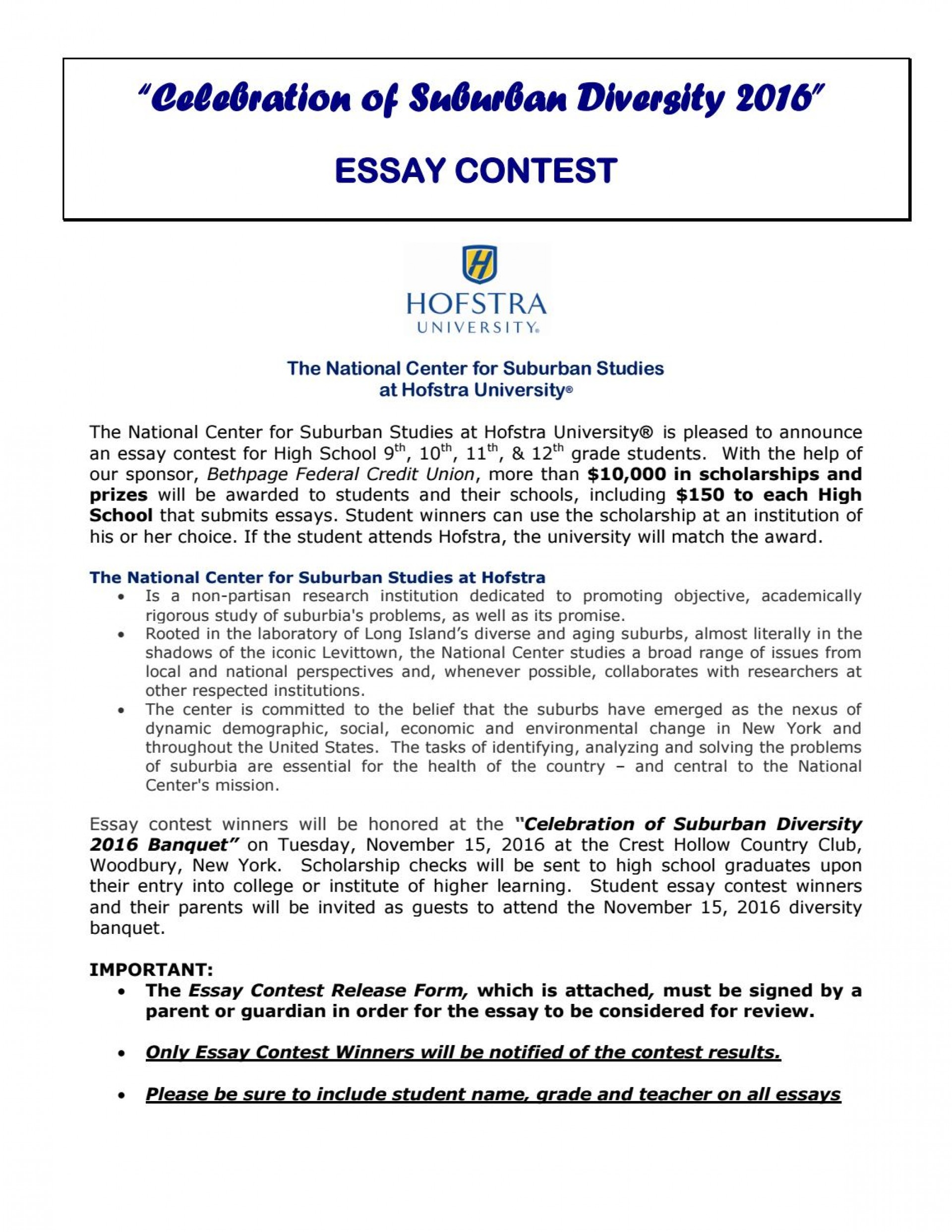 018 Essay Example Celebration Of Suburban Diversity Contest By High School Senior Scholarship Provided Direct Textbooks Inc P Contests For Juniors Astounding Students 2019 Middle 1920