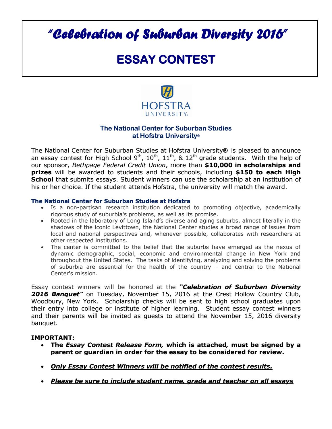 018 Essay Example Celebration Of Suburban Diversity Contest By High School Senior Scholarship Provided Direct Textbooks Inc P Contests For Juniors Astounding Students 2019 Middle Full