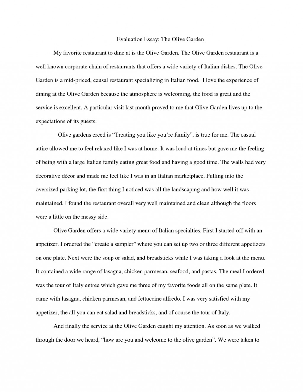 018 Essay Example Evaluation Topics How Write Self Examples Sample Assessment Essays On Movie Analysis Thesis Criteria Music Film For College Free Restaurant Awful Questions With Large