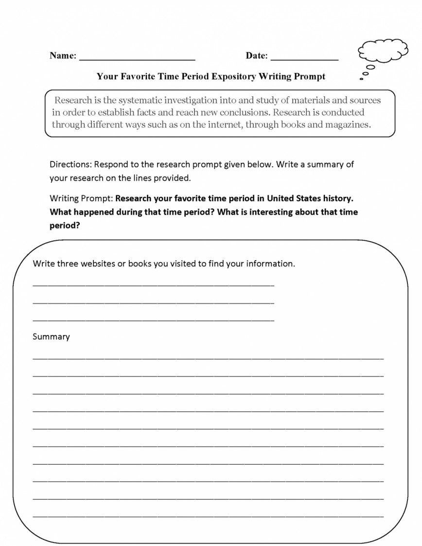 018 Essay Example Good Informative Topics Prompts Favorite Time Period Expository Writing P To Write An On The Topic Of Immigration Remarkable For Secondary School 4th Grade 5th 868