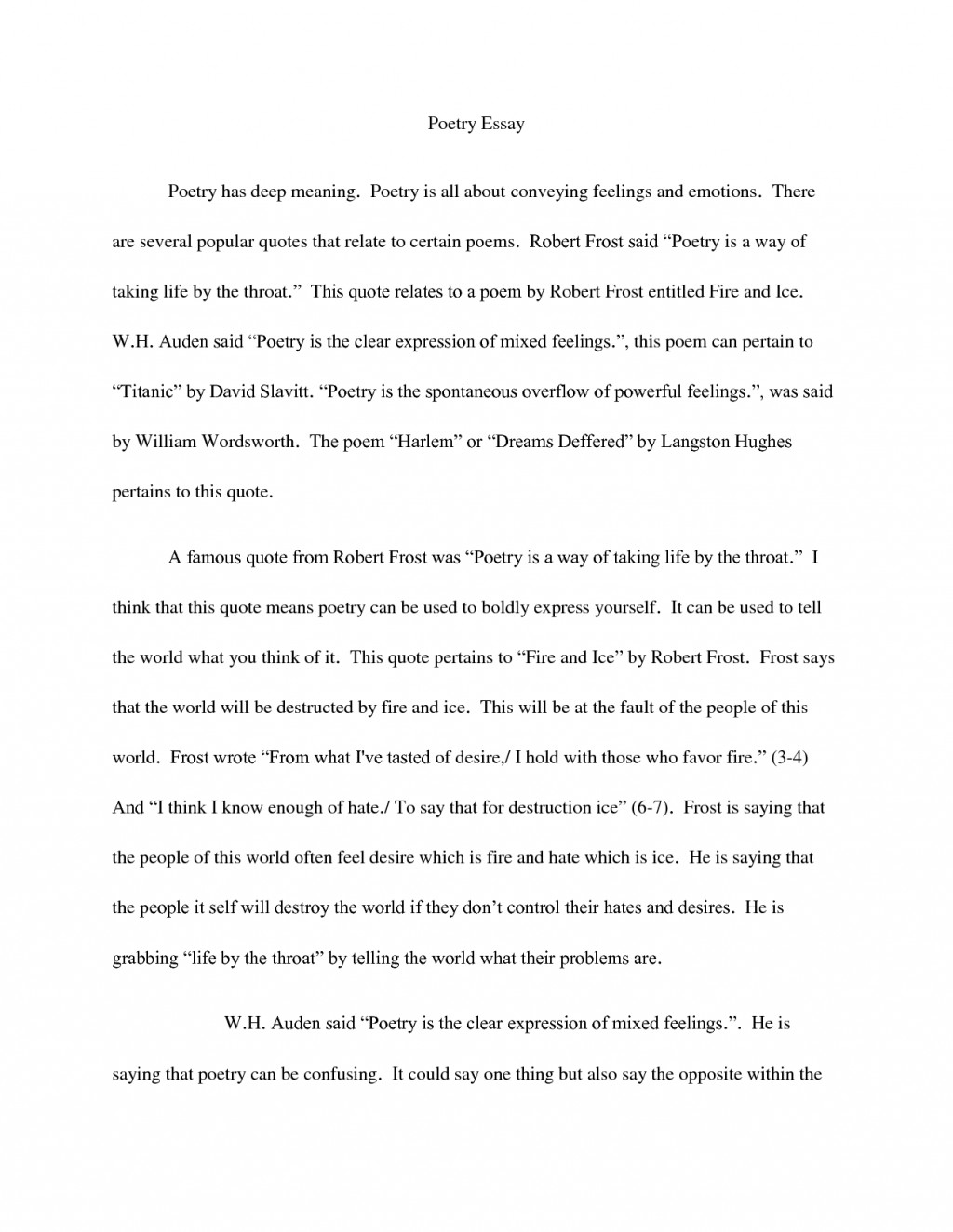 018 Essay Example How To Quote Poem In An Quotes Best A Title Apa Large