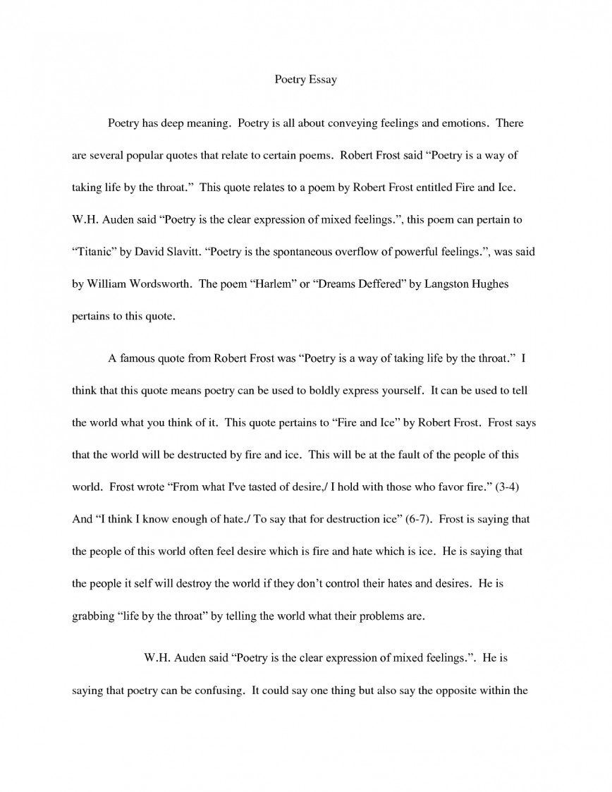 018 Essay Example How To Quote Poem In An Quotes Best A Title Apa