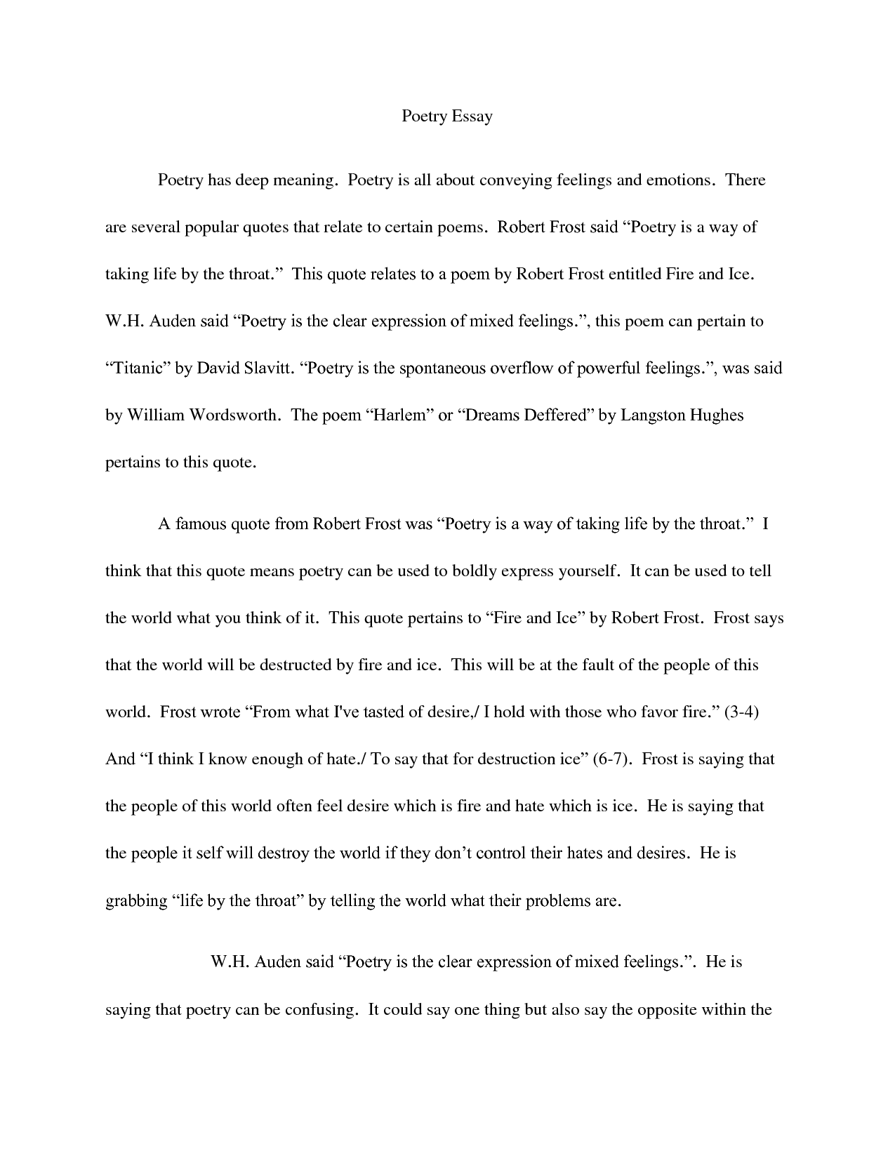 018 Essay Example How To Quote Poem In An Quotes Best A Title Apa Full