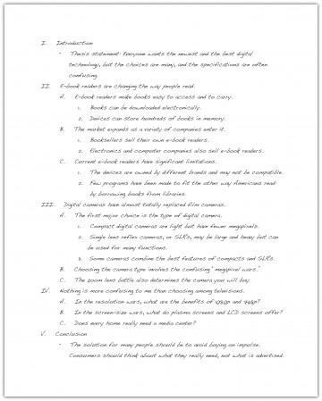 018 Essay Example How To Write An Excellent Outline For University 6th Grade 360