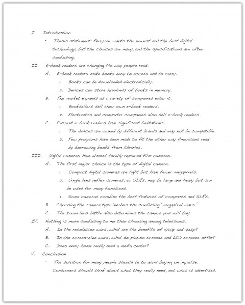 018 Essay Example How To Write An Excellent Outline For University 6th Grade 480