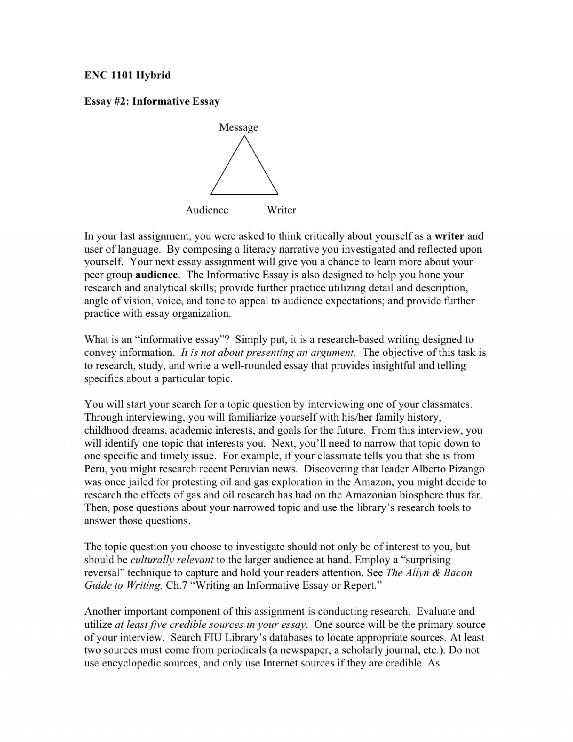 018 Essay Example Informative How To Start An Astounding Expository Write In Mla Format Examples Apa 1920