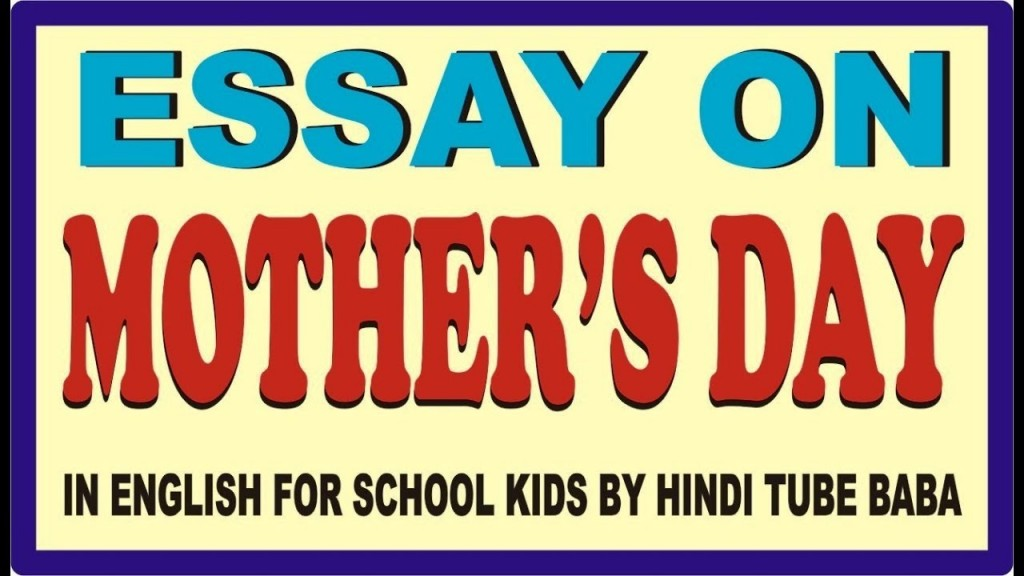 018 Essay Example Mothers Day Top In Kannada Contest Mother's Telugu Large