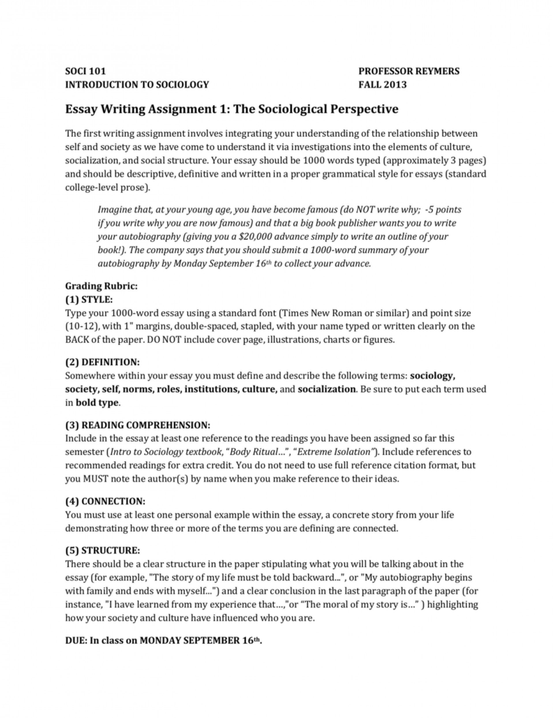 018 Essay Example Name Writing Assignment The Sociological Perspective Where To Put Your On Scholarship 008345038 1 An Apa Uk Write College Exceptional Mla Format Date Names In English Topic List 1920