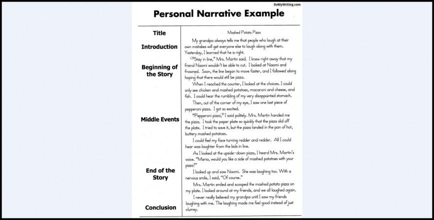 018 Essay Example Narrative Essays Top Examples Short College Excellent Spm