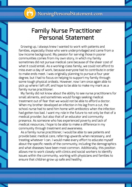018 Essay Example Nursing Personal Family Nurse Practitioner Statement Stupendous Goals