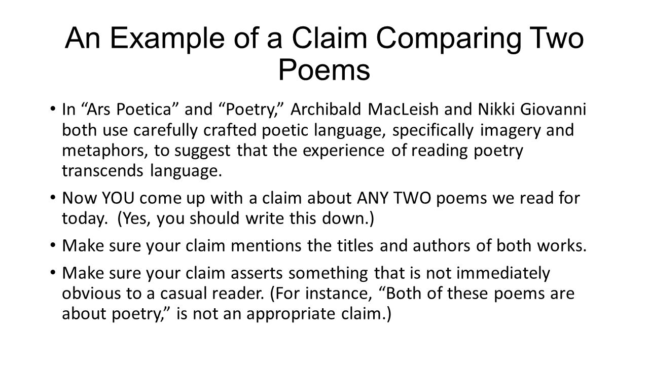 018 Essay Example Poetryalytical Definition Cover Sl What Is Minor Claim In Writing