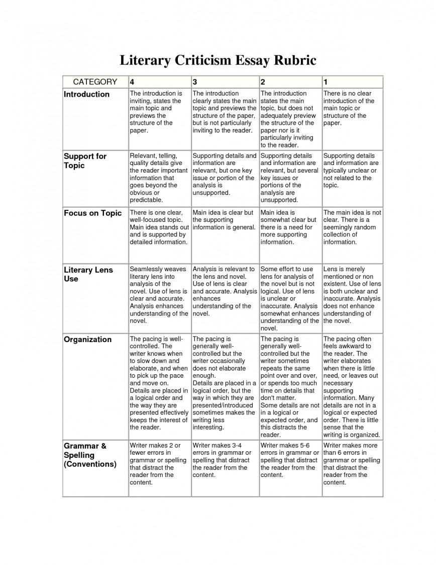 018 Essay Example Rubric College Wonderful History Argumentative Analytical