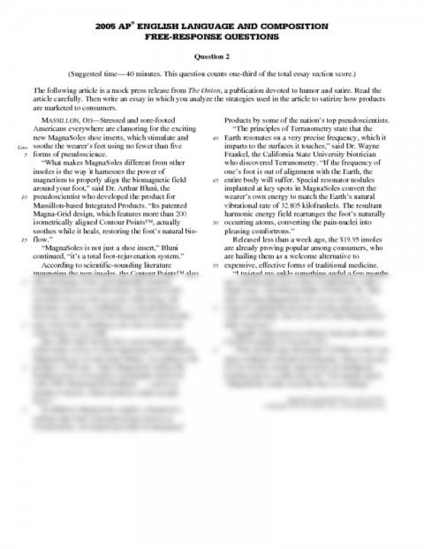 017 Essay Example Satirical Essays Thatsnotus