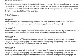 018 Essay Movies Example How To Write Movie Review Writing Examples 130049 Frightening On In Hindi Sample Titles