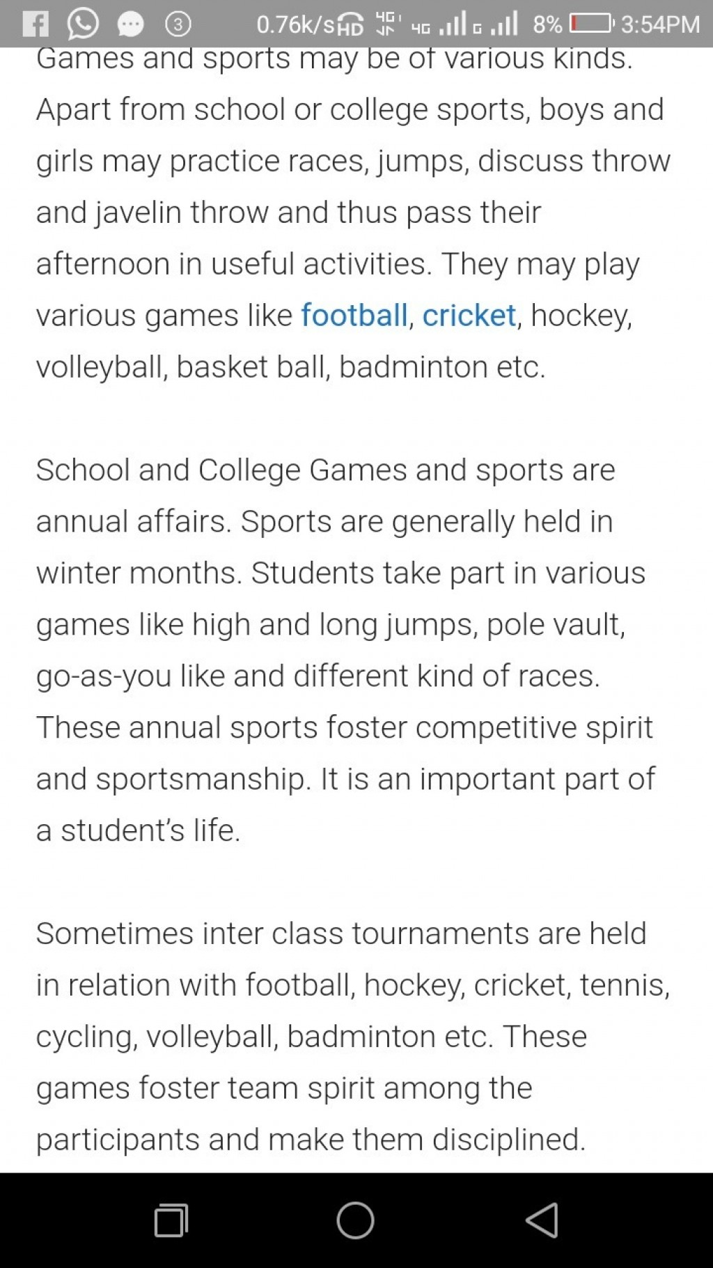 018 Essay On Importance Of Games And Sports In Words Hindi School Spirit Remarkable Argumentative Examples Related Topics Large