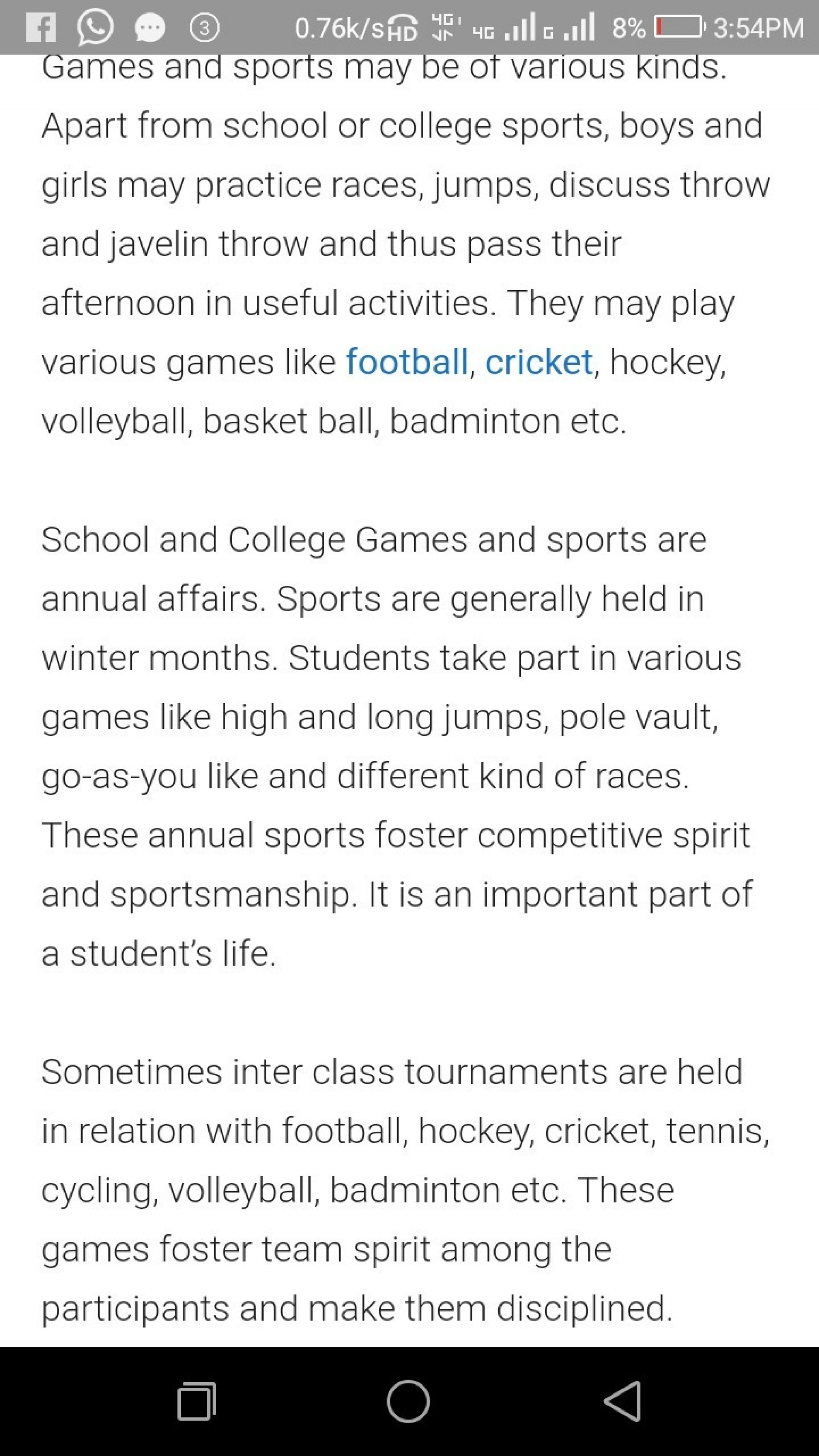 018 Essay On Importance Of Games And Sports In Words Hindi School Spirit Remarkable Argumentative Examples Related Topics 1920