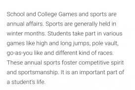 018 Essay On Importance Of Games And Sports In Words Hindi School Spirit Remarkable Argumentative Examples Related Topics