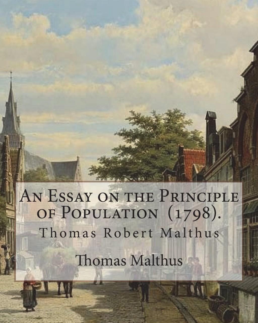 018 Essay On The Principle Of Population 71giypnbhsl Singular Pdf By Thomas Malthus Main Idea Large