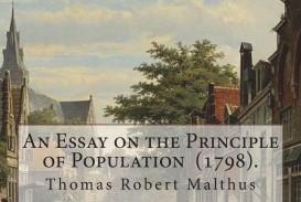018 Essay On The Principle Of Population 71giypnbhsl Singular Pdf By Thomas Malthus Main Idea