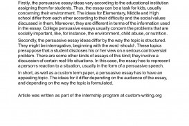 018 Essay Topics For Middle School Example Persuasive 480361 Amazing English High