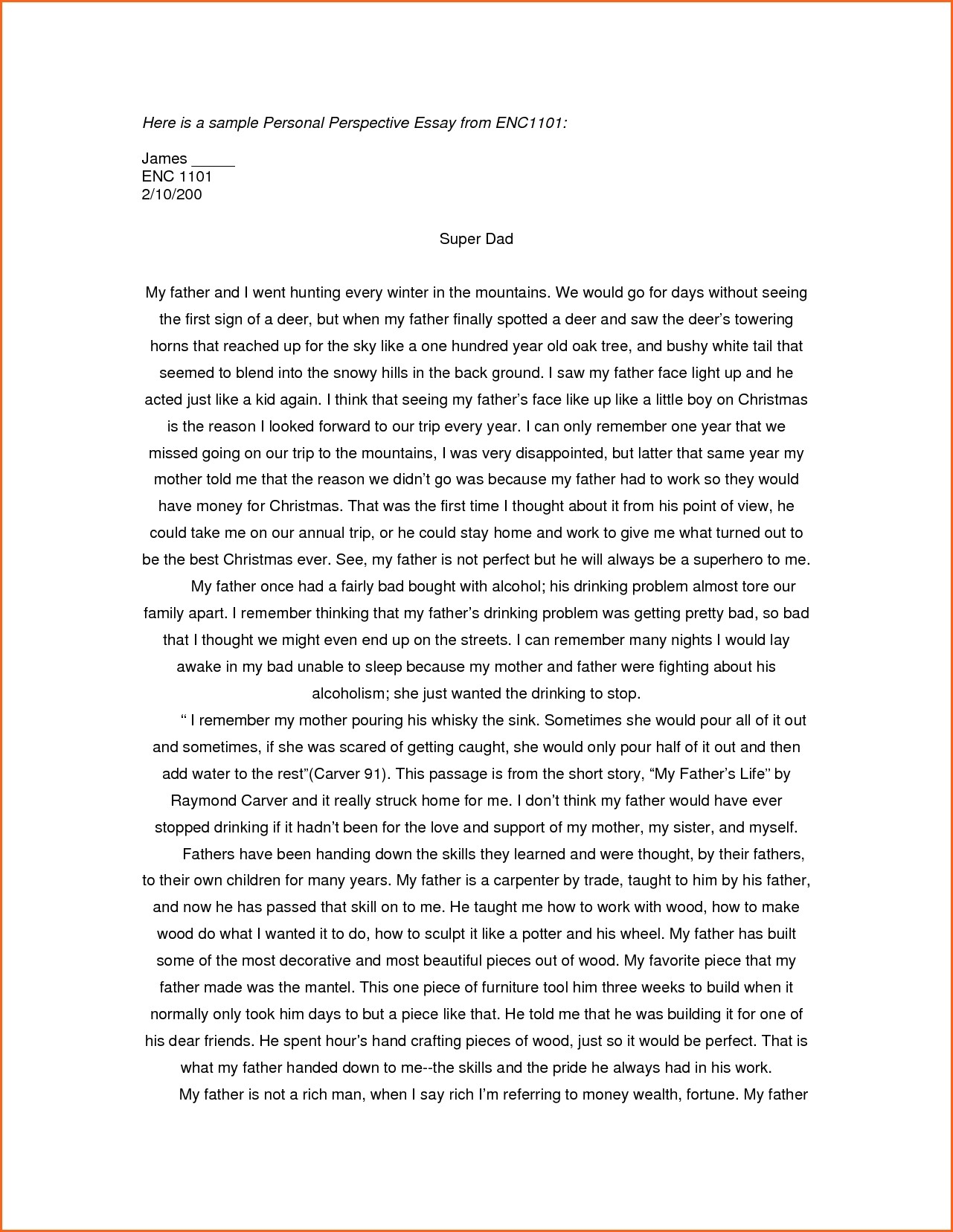018 Example Of Personal Essay For College Application Examples Cover Letter Formidable Format Narrative Scholarships Samples Graduate School Full