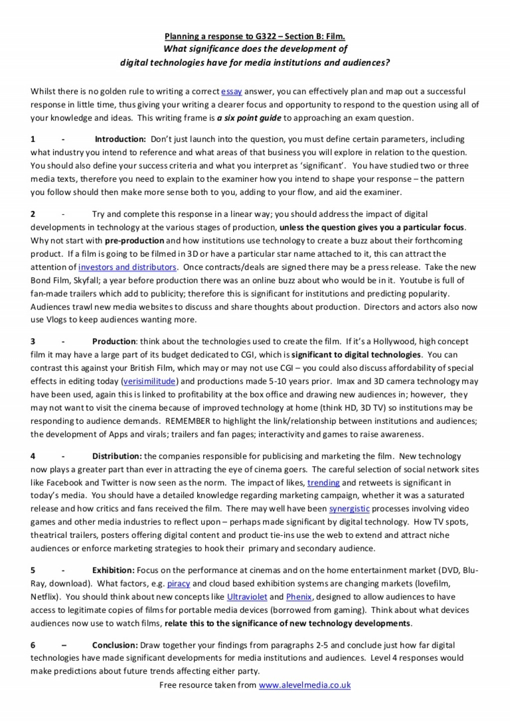 018 Exploratory Essays Modelessayplanforag322mediastudiesfilmresponse Phpapp01 Thumbnail Formidable Essay Examples Sample Topics Introduction Large