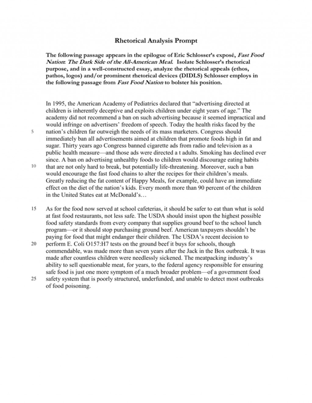 018 Fast Food Essay Example 008033612 1 Stunning Topics Argumentative Introduction Titles Large