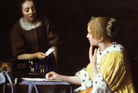 018 Girl With Pearl Earring Essay Example Vermeer Lady Maidservant Holding Letter Outstanding A The Movie Film Review 320