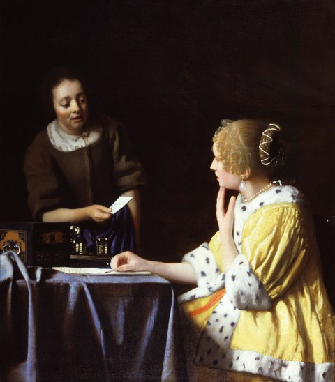 018 Girl With Pearl Earring Essay Example Vermeer Lady Maidservant Holding Letter Outstanding A The Movie Film Review 480