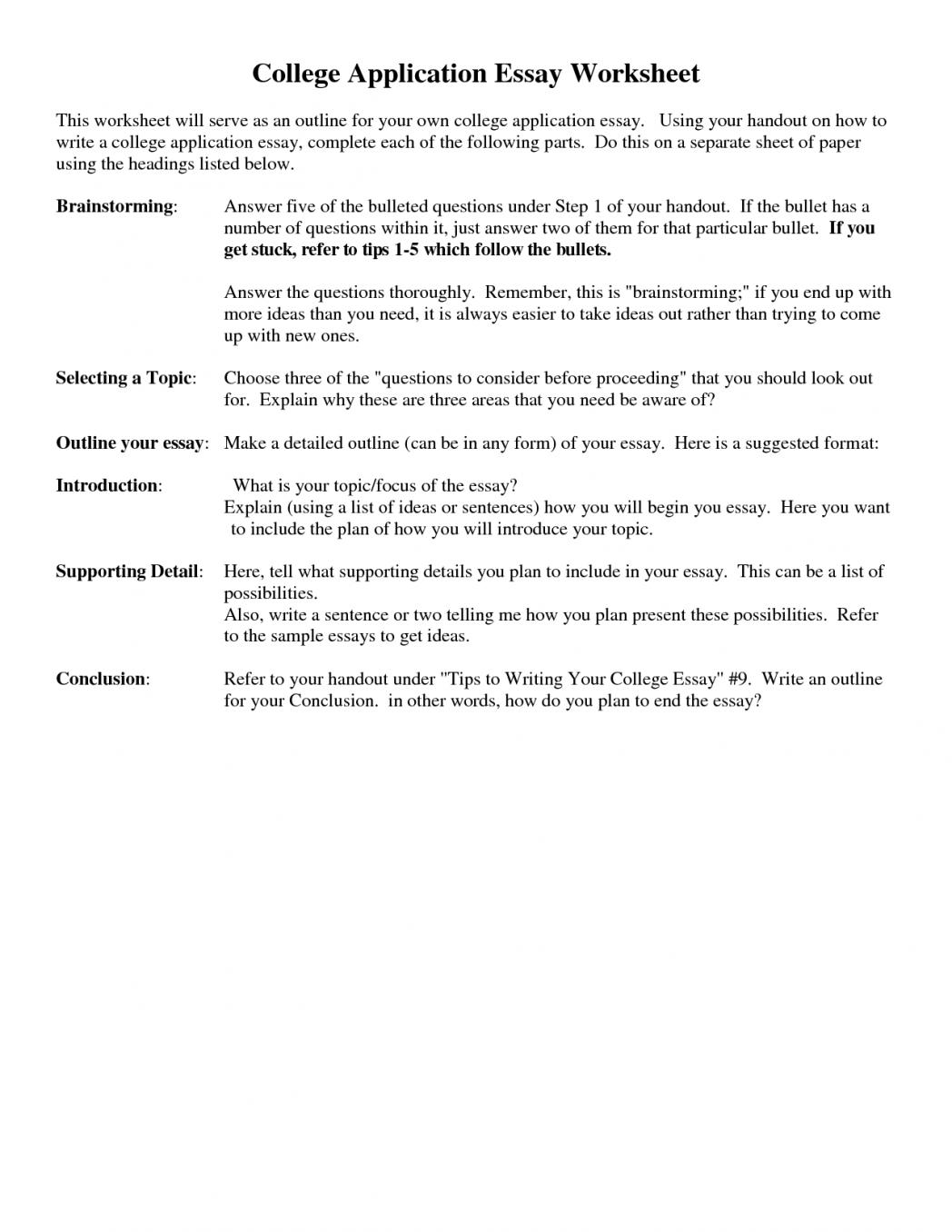 Application essay writing definition