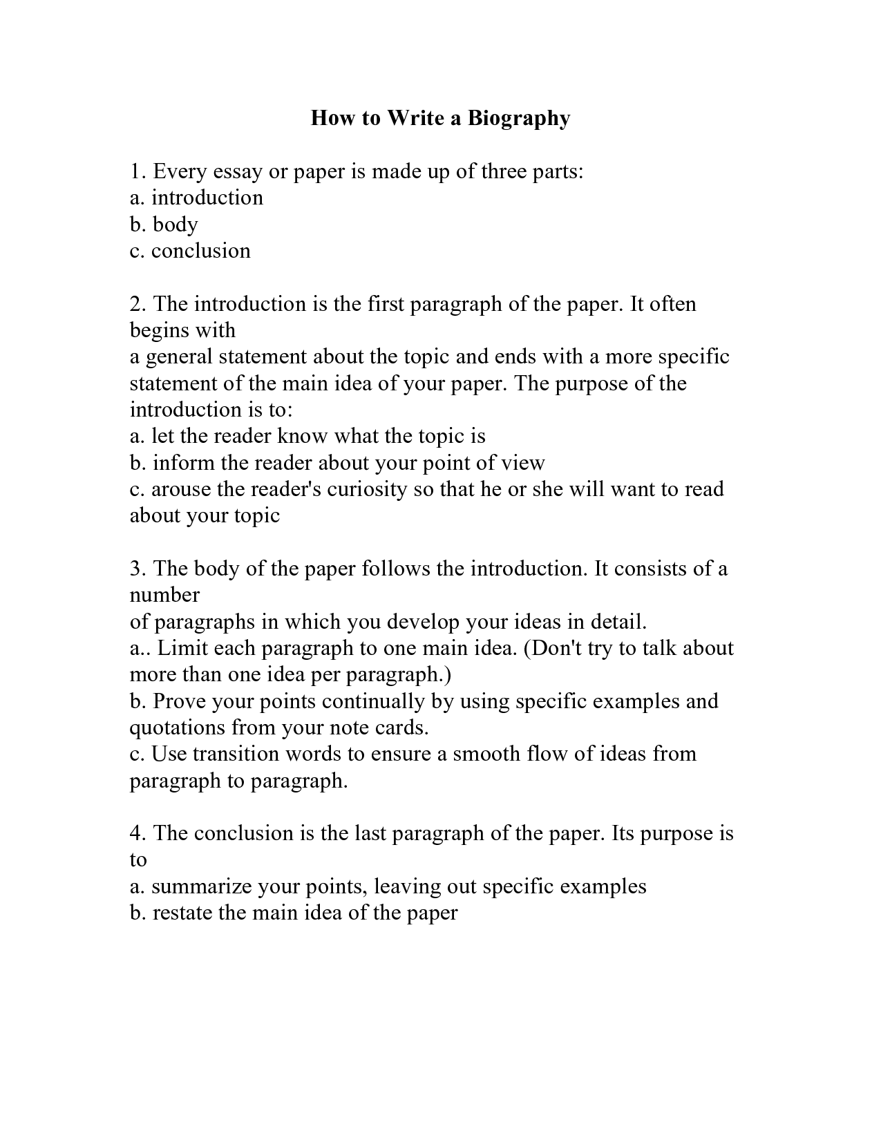 biography template for students pdf