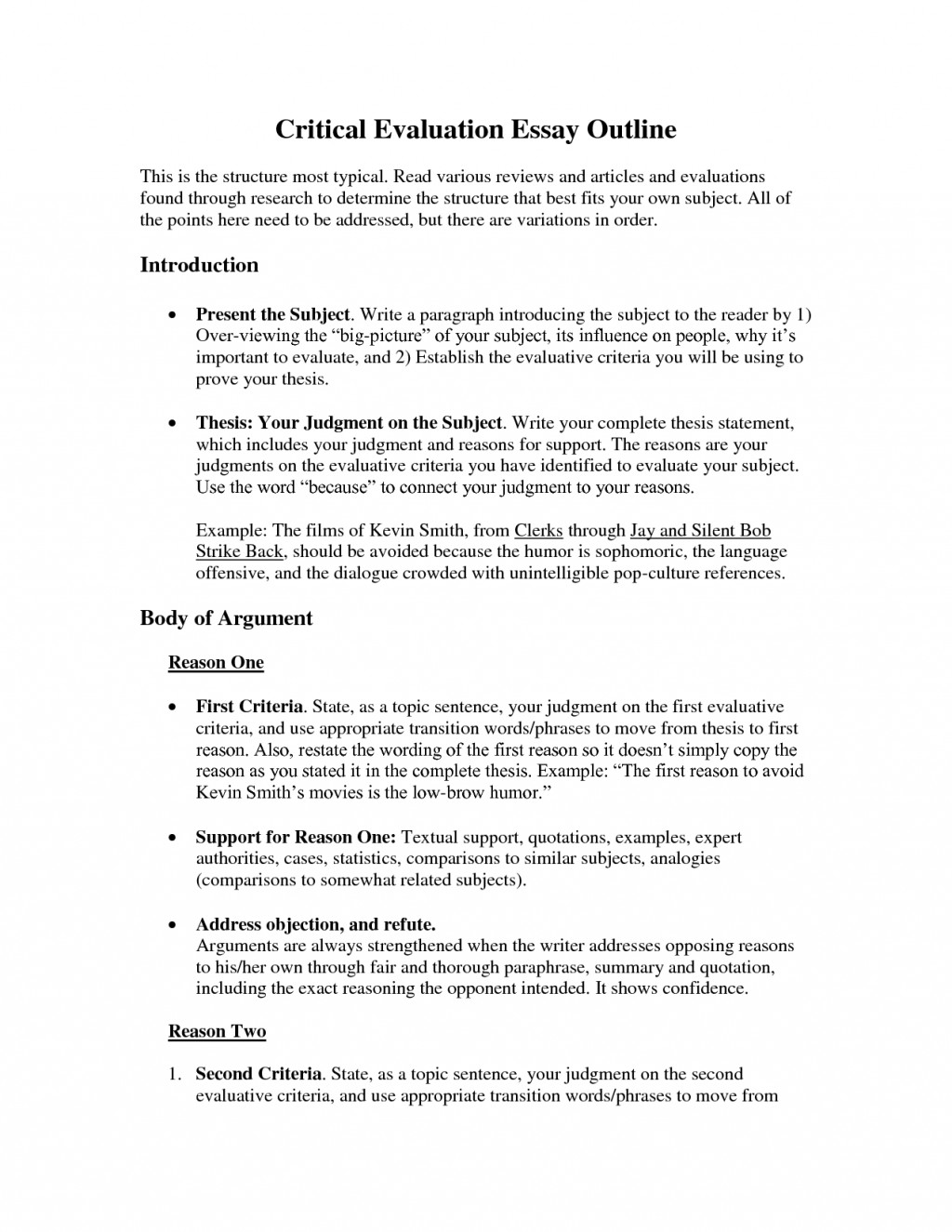 018 How To Write An Evaluation Essay Critical Example Sample L Outstanding A Self Psychology On Product Large