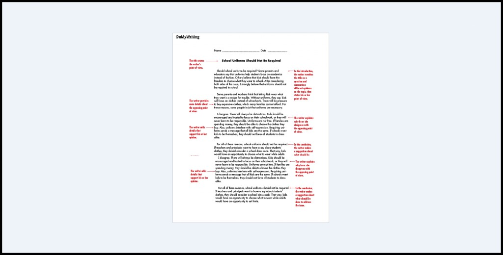 018-introduction-for-persuasive-essays-1024x521 Sample Argumentative Essay Example On Uniforms on example middle school, for classroom, cew format,