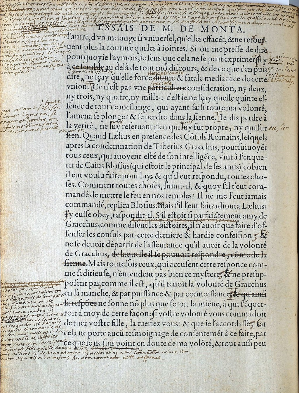 018 Montaigne Essays 1200px Essais Manuscript Essay Archaicawful Summary On Experience Quotes Best Translation Large