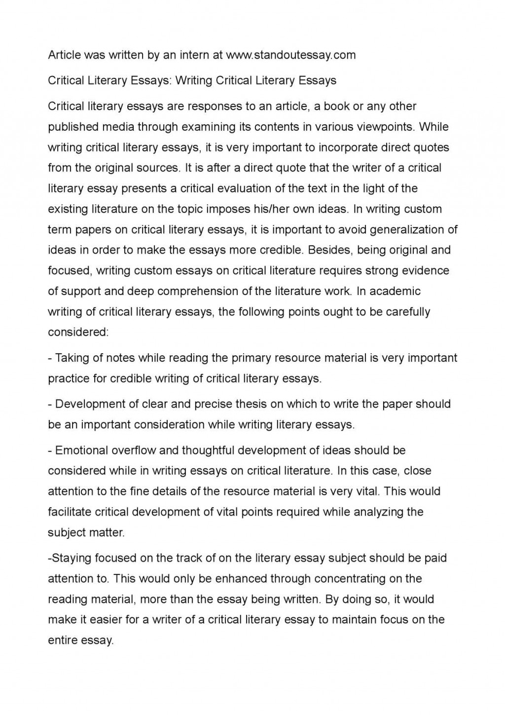 018 P1 Essay Example How To Write Literary Step Outstanding A By Pdf Ppt Analysis Large