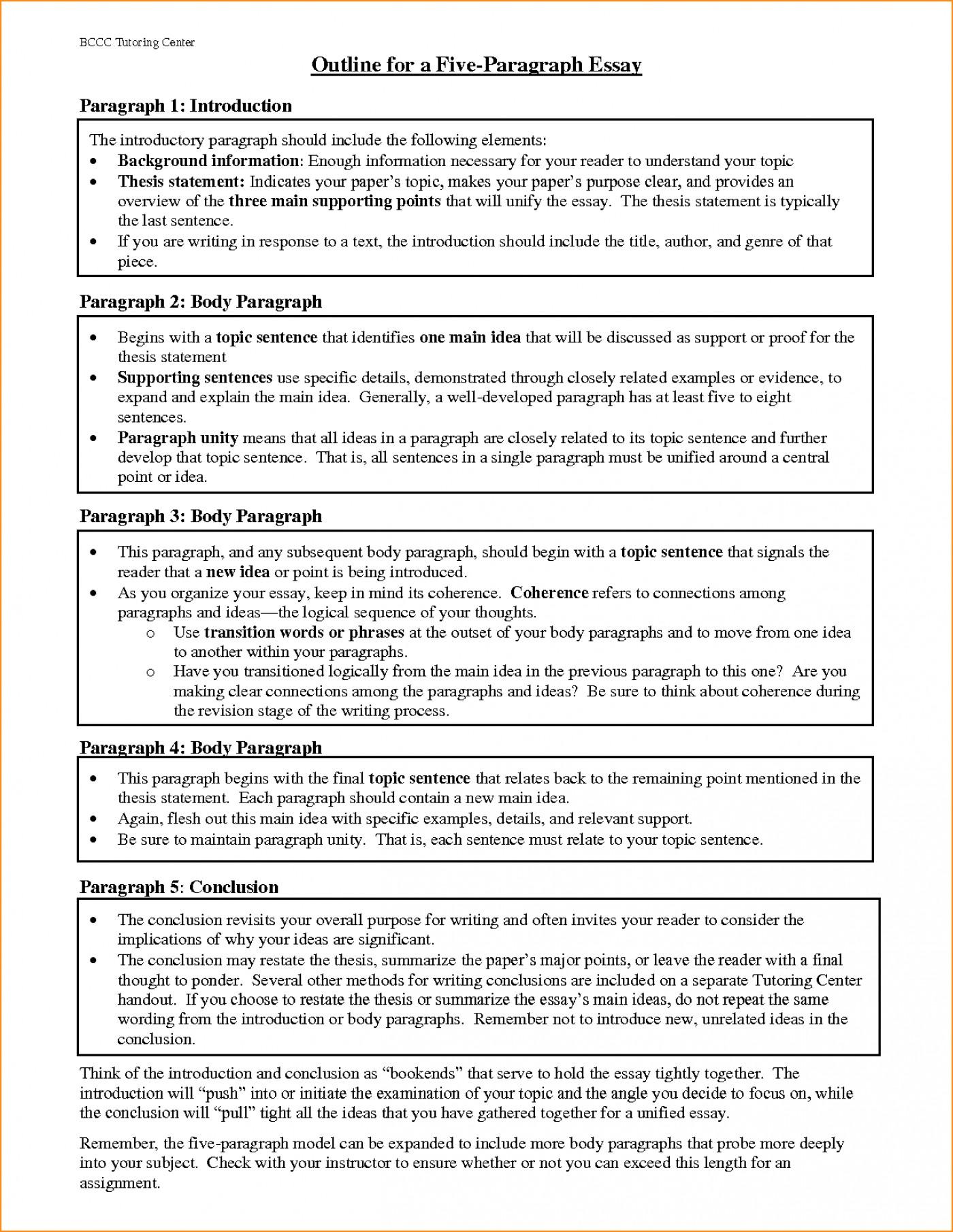 018 Paragraph Essay Outline Example Best Solutions Of Pdf Basic Job Appication Letter Cool Five Impressive 5 Template Argumentative 1400