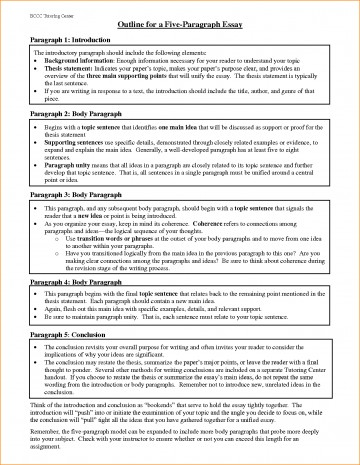 018 Paragraph Essay Outline Example Best Solutions Of Pdf Basic Job Appication Letter Cool Five Impressive 5 Template Argumentative 360