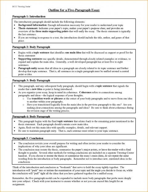 018 Paragraph Essay Outline Example Best Solutions Of Pdf Basic Job Appication Letter Cool Five Impressive 5 Template Argumentative 480