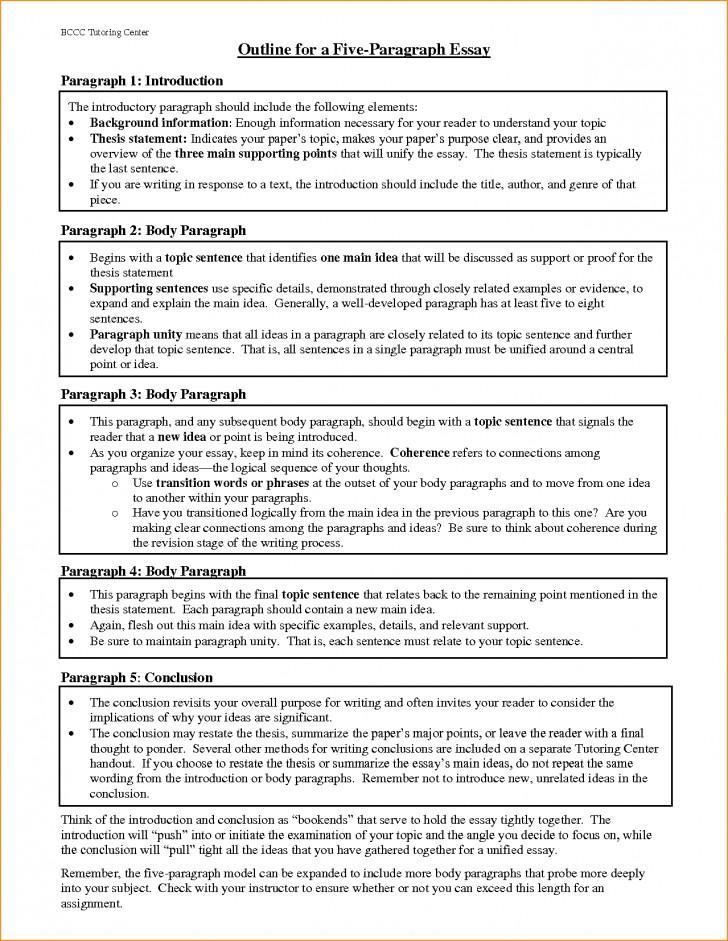 018 Paragraph Essay Outline Example Best Solutions Of Pdf Basic Job Appication Letter Cool Five Impressive 5 Template Argumentative 728