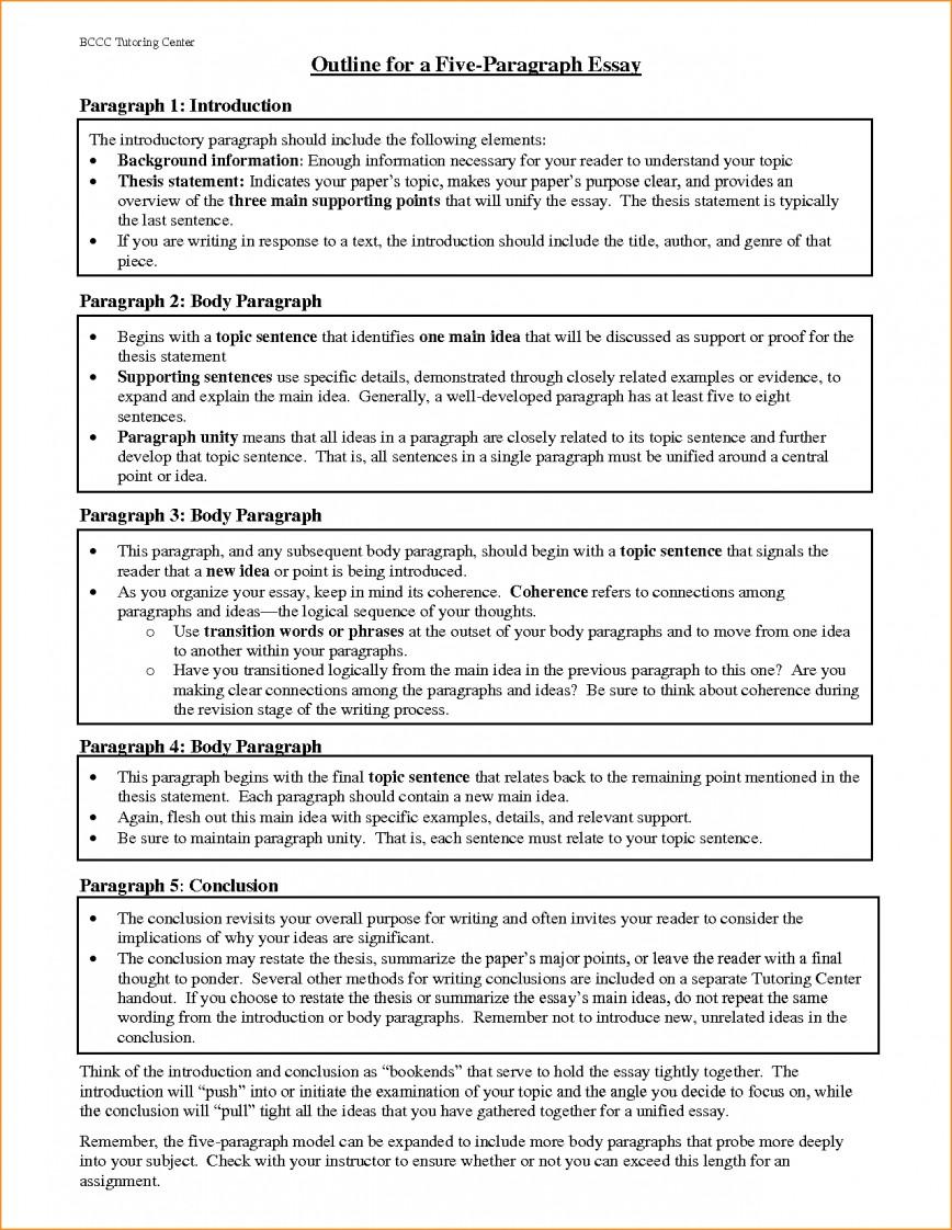 018 Paragraph Essay Outline Example Best Solutions Of Pdf Basic Job Appication Letter Cool Five Impressive 5 Template Argumentative 868
