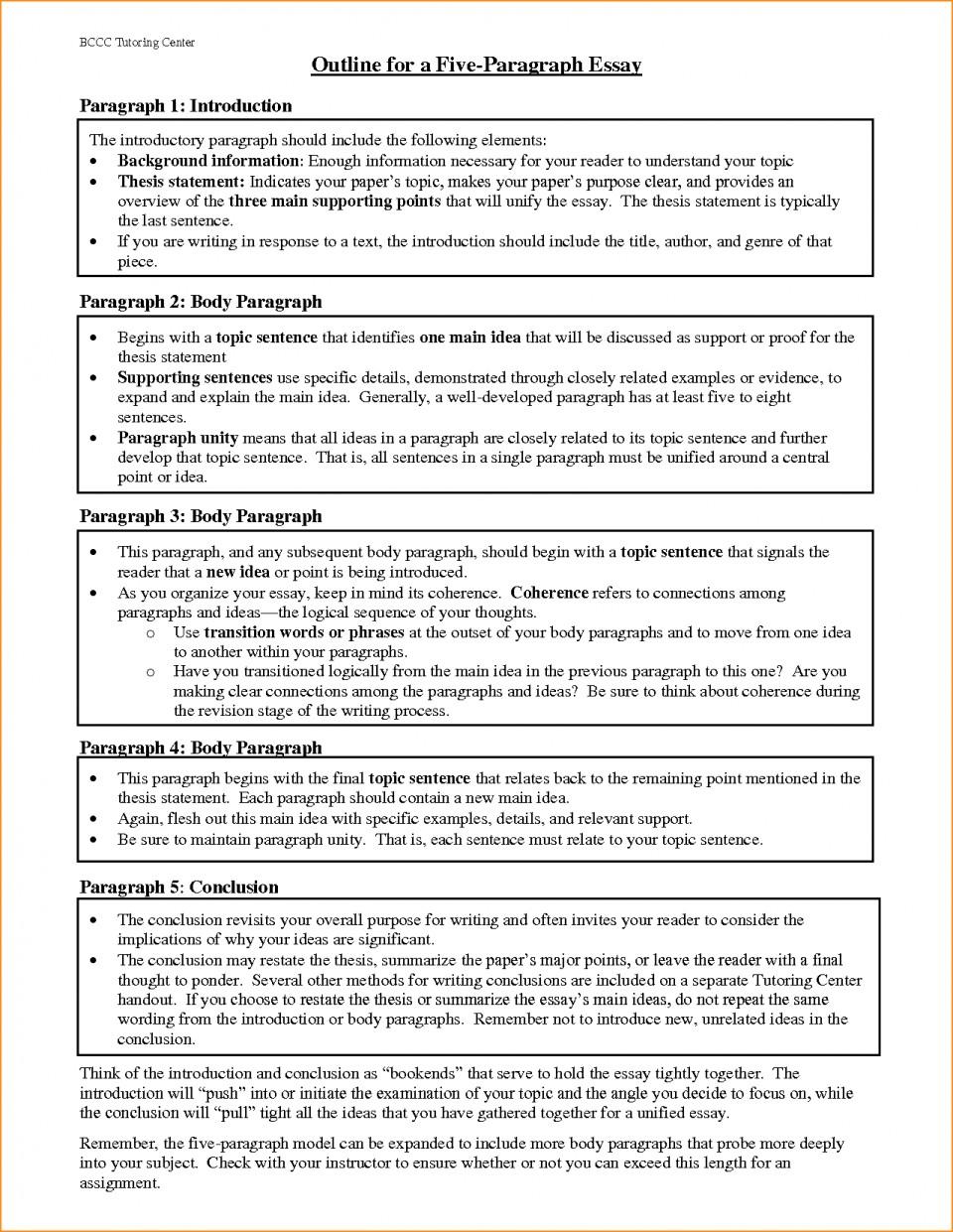 018 Paragraph Essay Outline Example Best Solutions Of Pdf Basic Job Appication Letter Cool Five Impressive 5 Template Argumentative 960