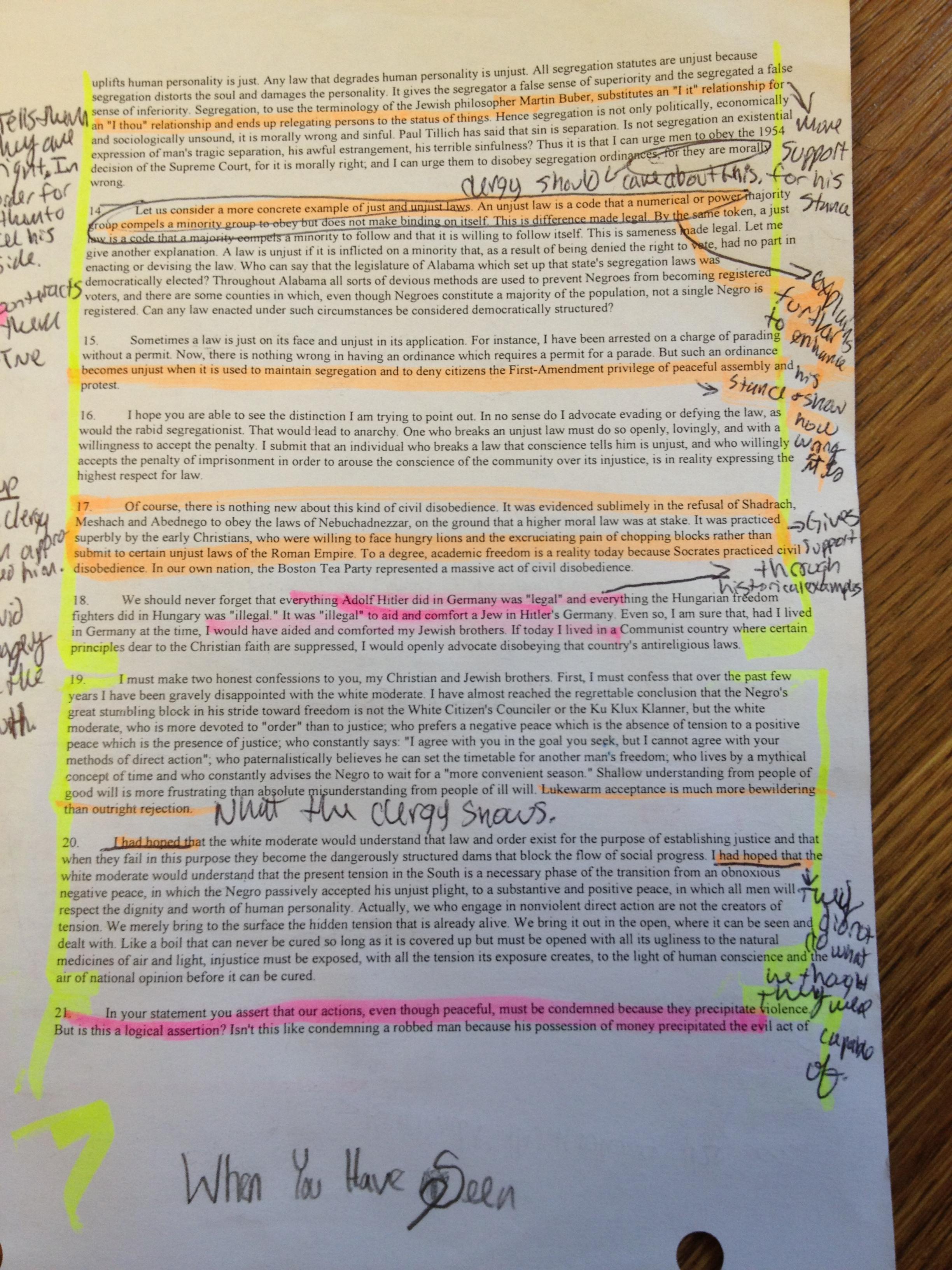 008 Essay Example Letter From Birmingham Jail Ethos Pathos Logos
