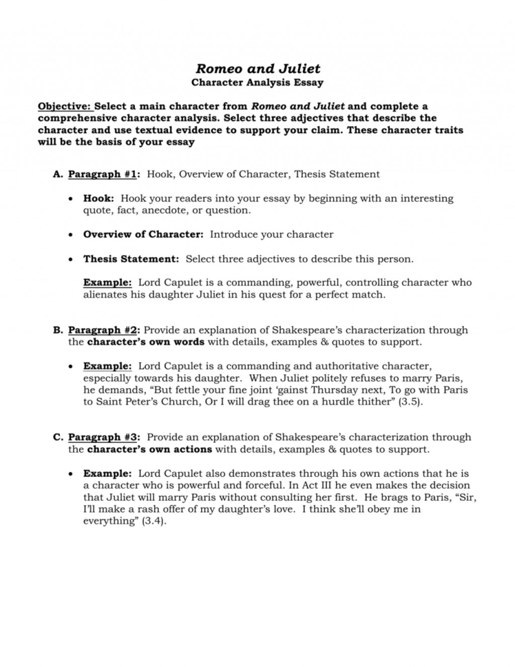 018 Romeo Character Traits Essay Research Paper Academic Writing Service Characterization Analysis Example 007291824 1 Comparing Characters Excellent On Characteristics Of A Good Student Rose For Emily Large