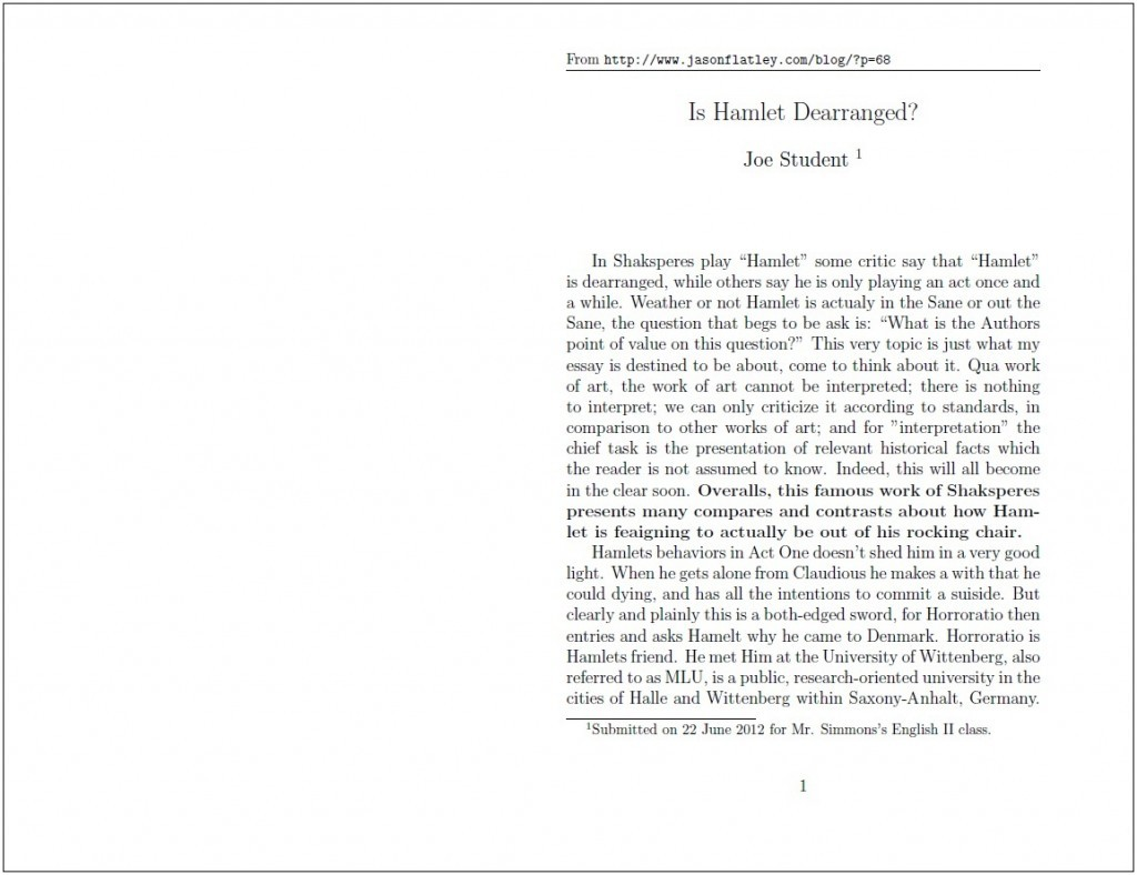018 Standard Essay Cover Letter Written Format Writing Joe Student Hamlet Proposed Proper Paper Argumentative For College Application Scholarship Apa Pdf Mla Style Form Formidable Reflection Large