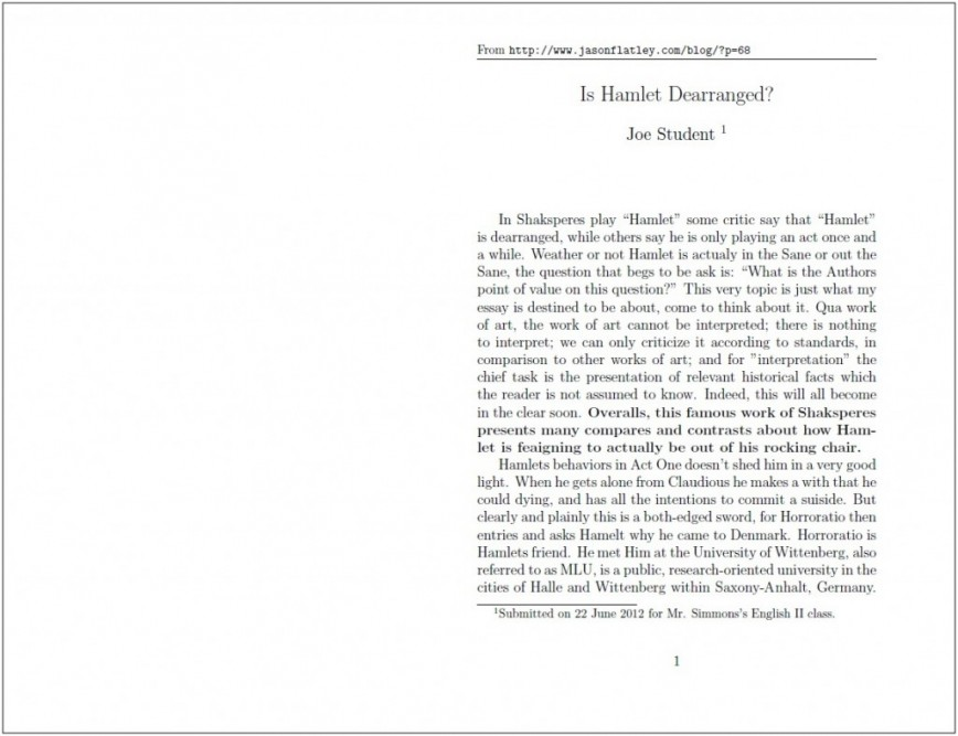 018 Standard Essay Cover Letter Written Format Writing Joe Student Hamlet Proposed Proper Paper Argumentative For College Application Scholarship Apa Pdf Mla Style Form Formidable