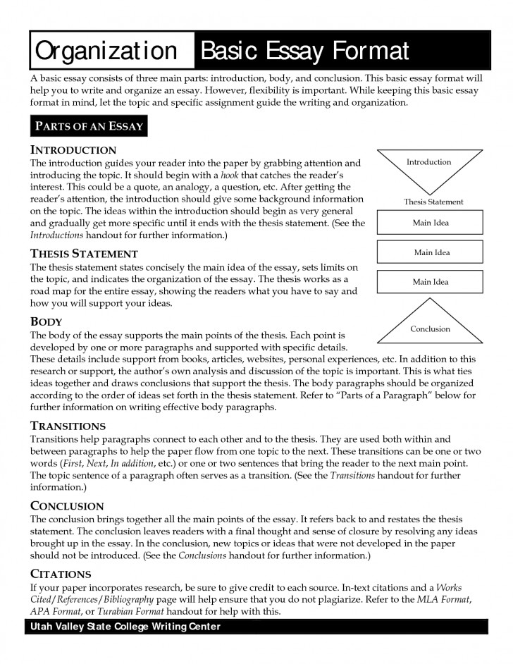 018 Standard Essay Format Get Online Argumentative Best Template Outline Sample Pdf 728