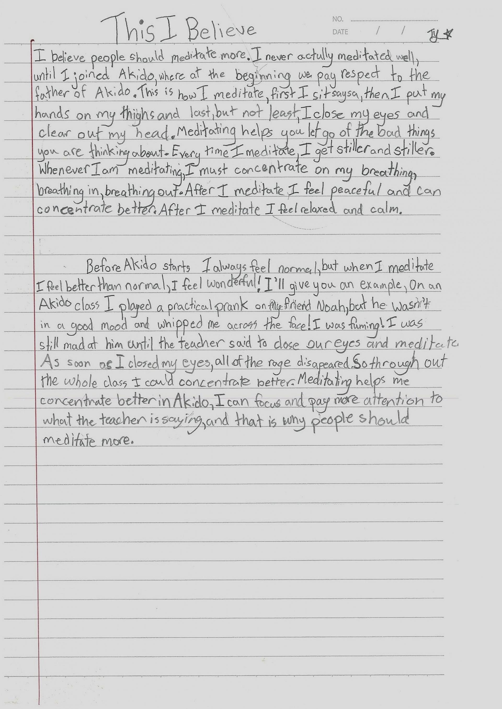 018 This I Believe Essays Drureport312webfc2com Essay Example L Stupendous Examples Personal College 1920