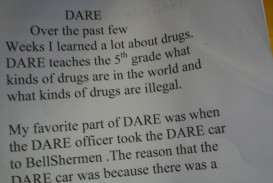 019 5th Grade Dare Essay Example Outstanding Examples Winning Essays