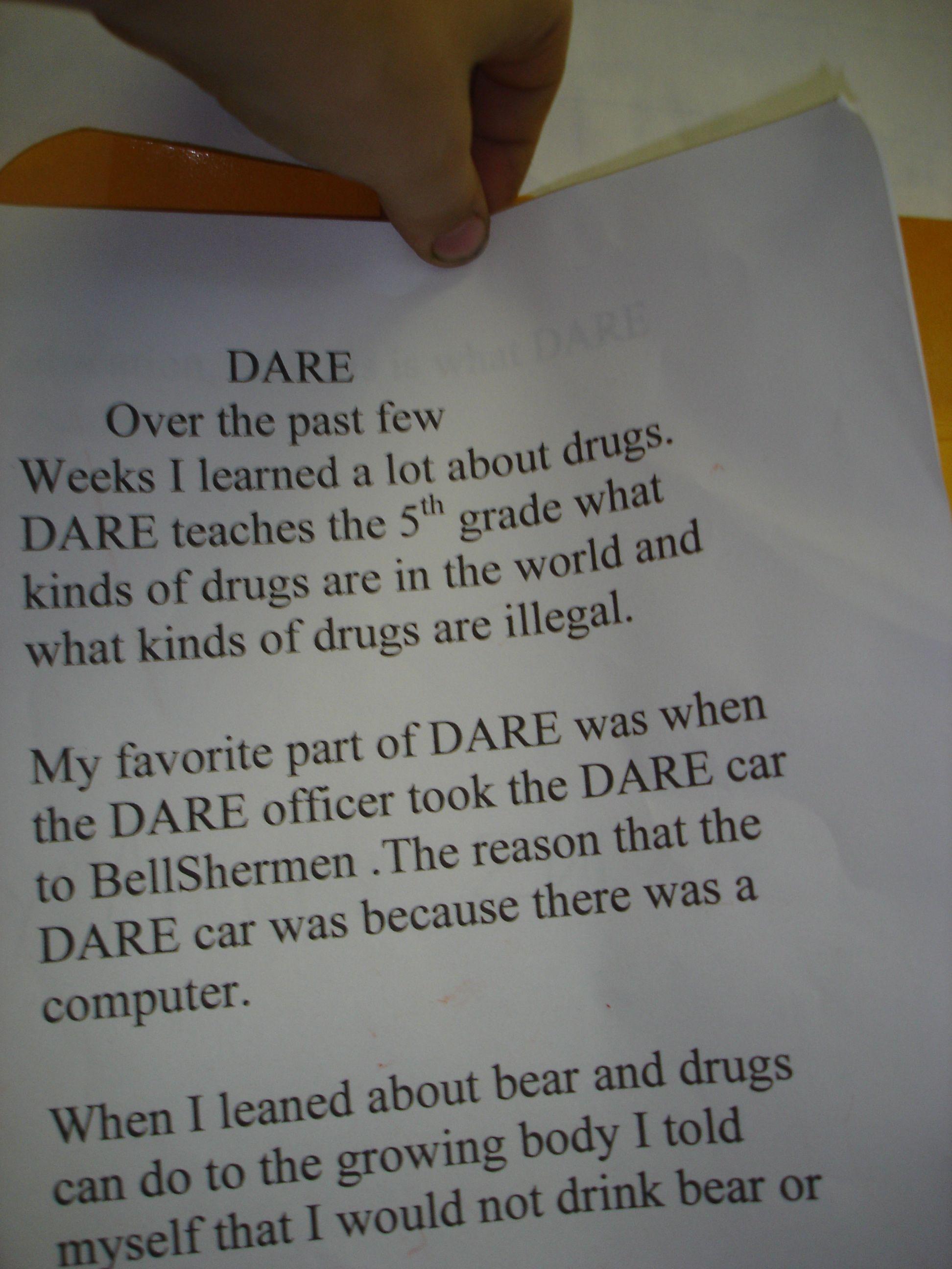 019 5th Grade Dare Essay Example Outstanding Examples Winning Essays Full