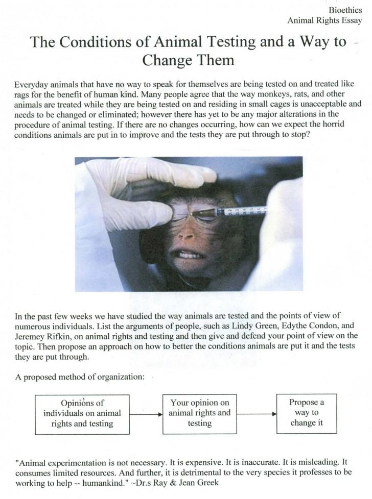 Persuasive essay against animal testing